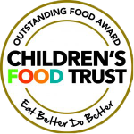 Outstanding food award badge
